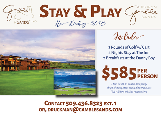 Stay and Play at Gamble Sands.